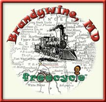Brandywine Freecycle with train image for history of railroad town